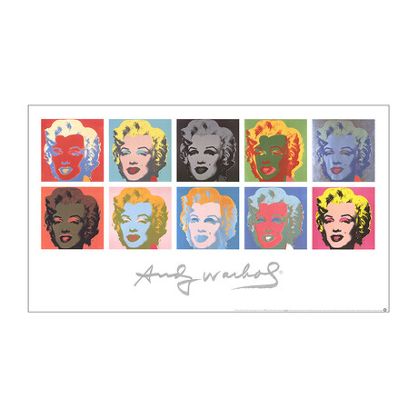 Ten Marilyns (White Background) // Andy Warhol