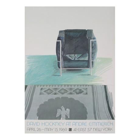 Corbusier Chair and Rug // David Hockney