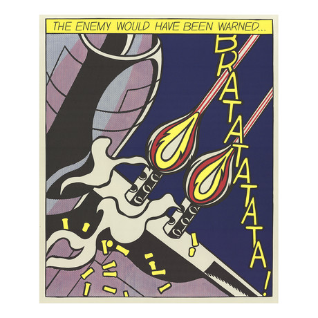 The Enemy Would Have Been Warned (Panel 2) // Roy Lichtenstein