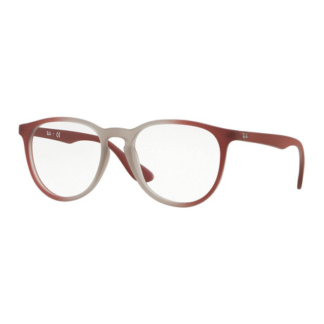 Women's 0RX7046 Teardrop Optical Frames // Light Brown + Bordeaux Gradient