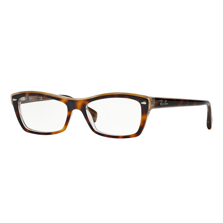Women's 0RX5255 Rectangle Optical Frames // Transparent Tortoise