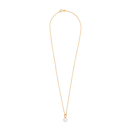 Assael 18k Yellow Gold Japanese Akoya Pearl Necklace