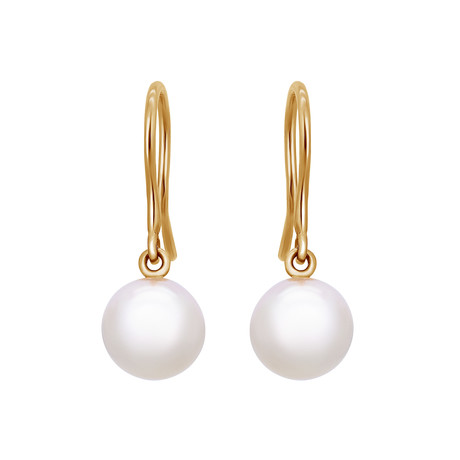 Assael 18k Yellow Gold Japanese Akoya Pearl Earrings
