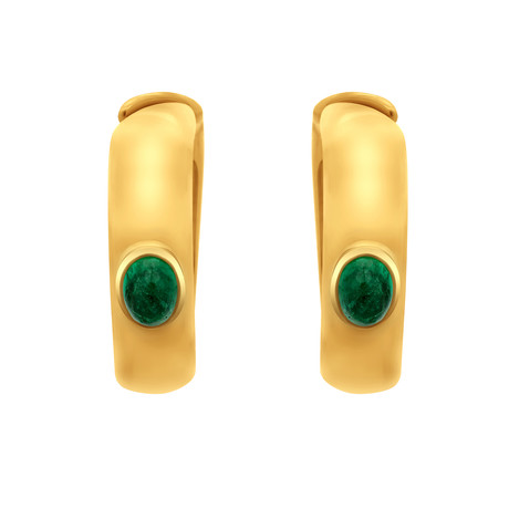 Assael 18k Yellow Gold Emerald Earrings