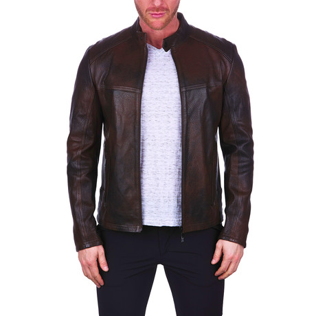 Hammer Leather Jacket // Brown (S)