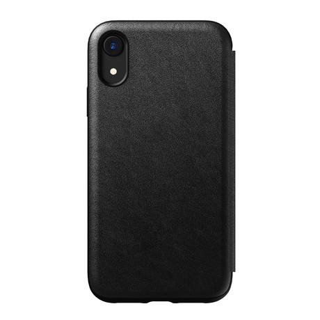 Rugged Folio // Black Leather (iPhone XR)