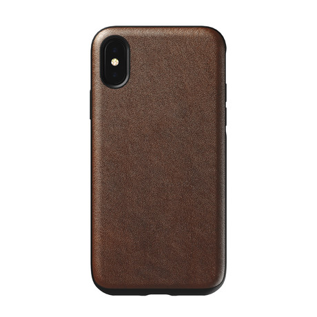 Rugged Case // Rustic Brown Leather // V2 (iPhone XS)