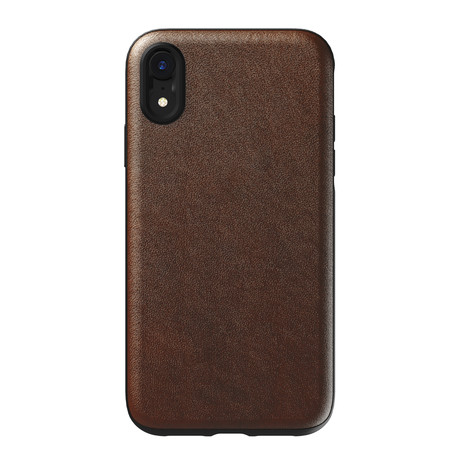 Rugged Case for Moment // Rustic Brown Leather (iPhone XR)