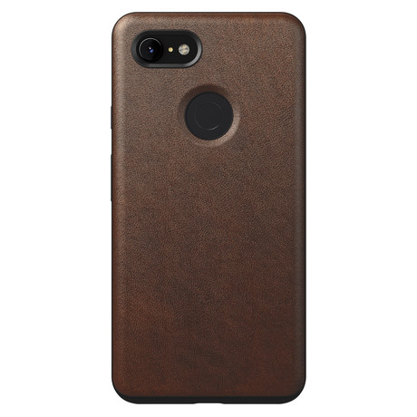 Rugged Case // Rustic Brown Leather (Pixel 3 XL)