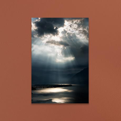 """Sunbeams Over Lago Maggiore (16""""W x 20""""H x 1""""D)"""