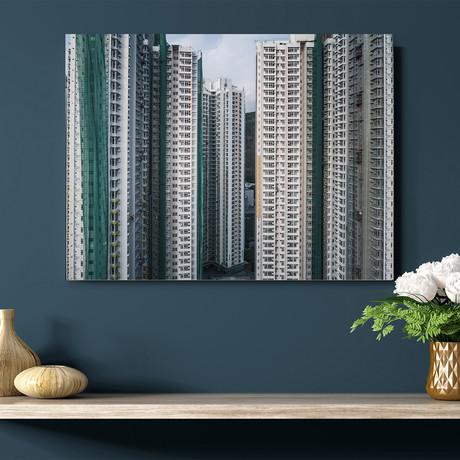 "Hong Kong High Rise Buildings (16""W x 20""H x 1""D)"