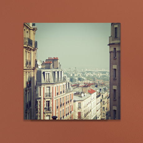 """Paris Rooftops (10""""W x 10""""H x 1""""D)"""