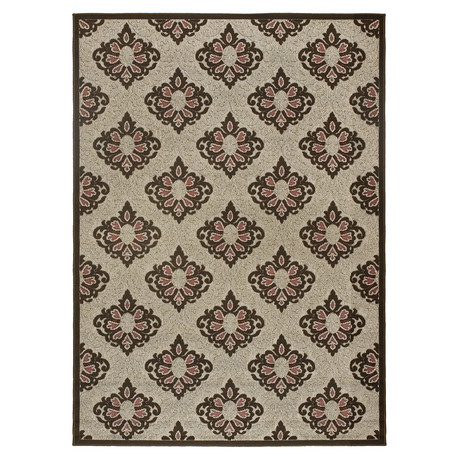 "Medallion Indoor + Outdoor Rug (1'11"" x 3'7"")"
