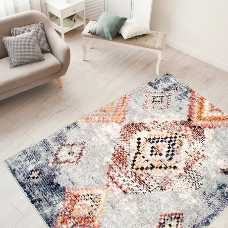 "Morocco Mosaique // Light Blue (3'11""W x 5'11""L)"