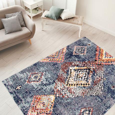 """Morocco Mosaique // Blue (5'3""""W x 7'3""""L)"""