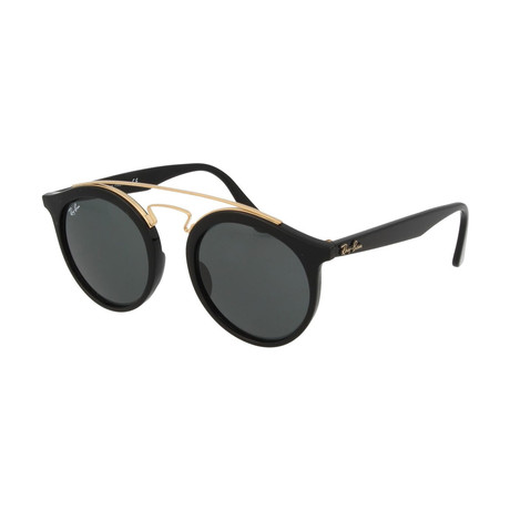 Men's Gatsby Phantos Double Bridge Sunglasses // Black + Dark Green