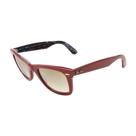 Men's Original Wayfarer Sunglasses // Red + Brown Gradient