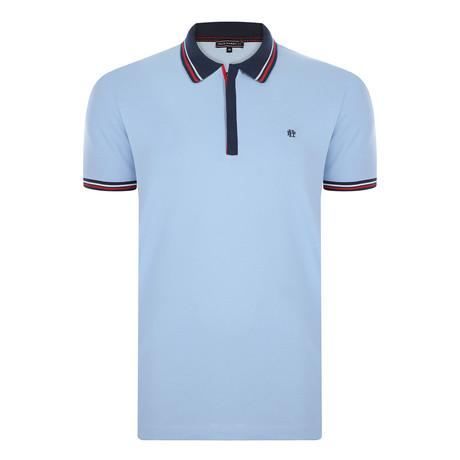 Steven Short Sleeve Polo Shirt // Blue (S)