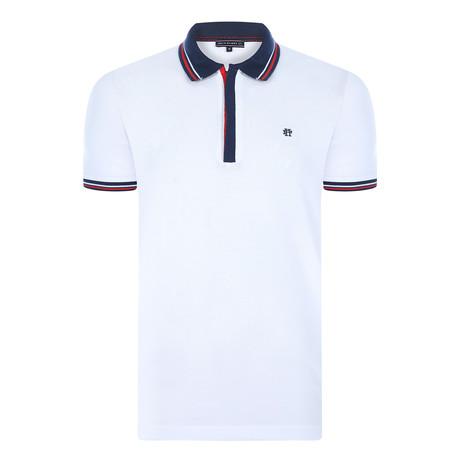 Arsenio Short Sleeve Polo Shirt  // White (XS)