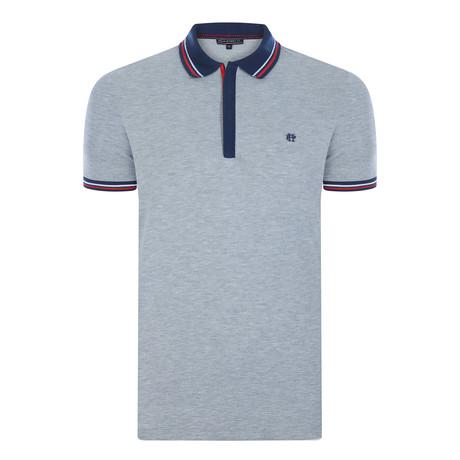Jerry Short Sleeve Polo Shirt  // Gray Melange (XS)