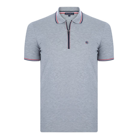 Victor Short Sleeve Polo Shirt  // Gray Melange (XS)
