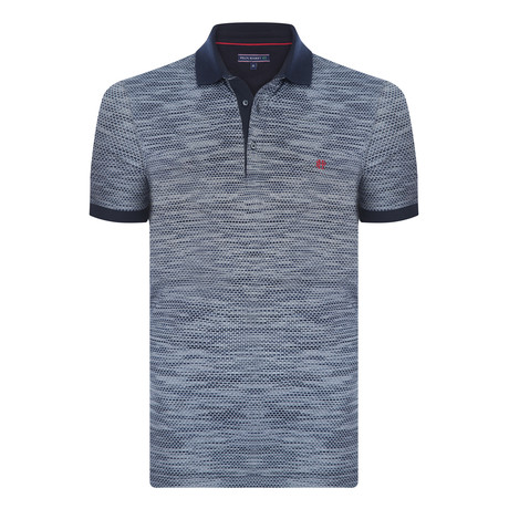 George Short Sleeve Polo Shirt  // Navy (XS)