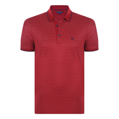 Bob Short Sleeve Polo Shirt  // Bordeaux (XL)