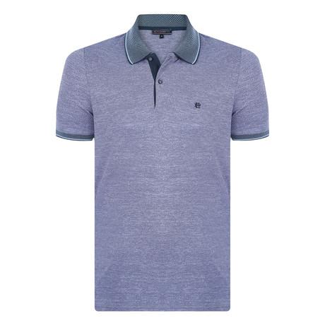 Germaine Short Sleeve Polo Shirt // Sax (S)