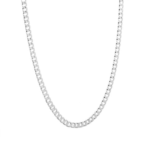 """Curb Chain Necklace // Silver (24"""")"""