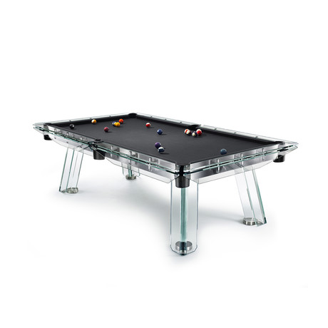 FILOTTO Pool Table (Black Cloth + Nero Pockets)