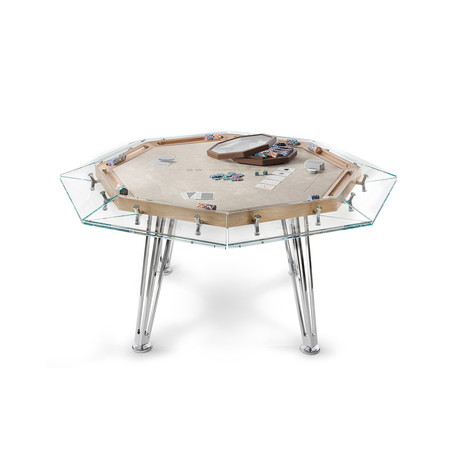 UNOOTTO Wood Edition Poker Table (Sea Sand + Tobacco)