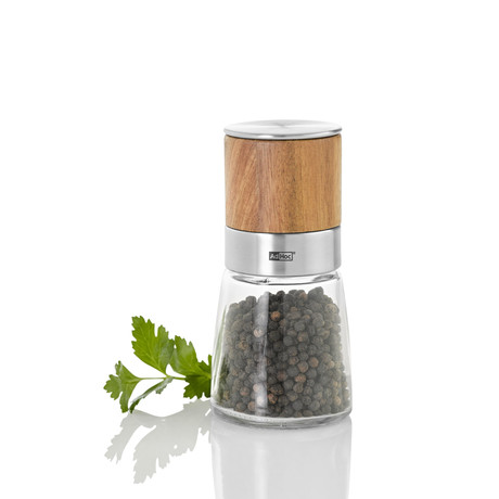 Acacia Wood + Glass // Salt + Pepper Mill