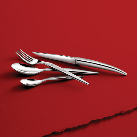 Laguiole Heritage // 16-Piece Forged Flatware Set (Mirror Polish)