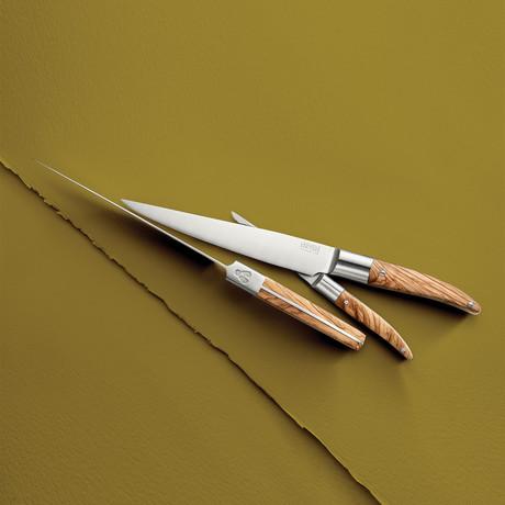 Laguiole Expression 4-Piece Steak Knife Set // Olive Wood