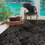 Tarantela Rug // Croco-like Obsidian (5'L x 8'W)