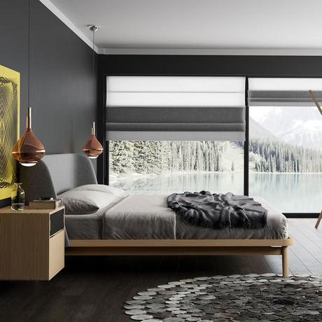 Haru Bed // Andorra Wool + Natural Oak (California King)