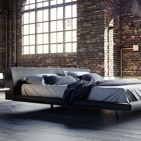 Jane Bed // Carbon Gray Fabric // California King