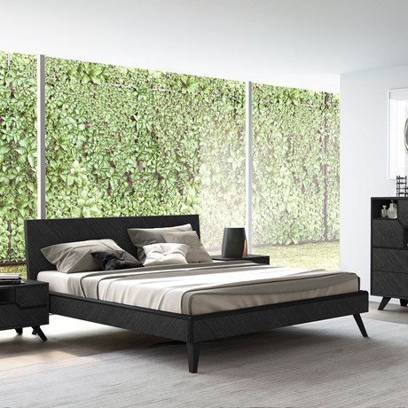 Rivington Bed // Gray Oak (King)