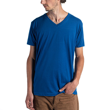 The Premium V Neck // Royal Blue (XS)