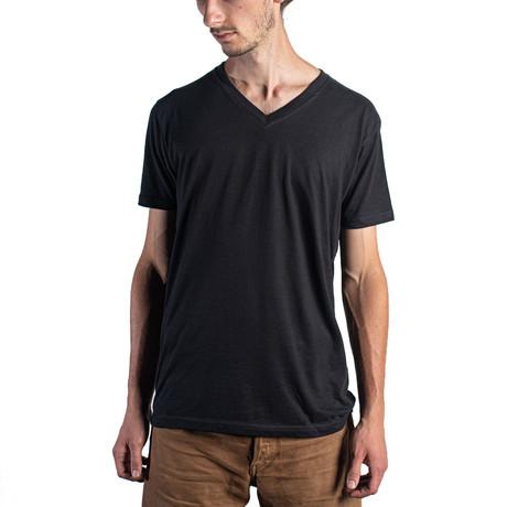 The Premium V Neck // Black (XS)