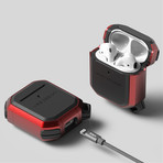 Airpods 1/2 Case // Active Series // Metal Red