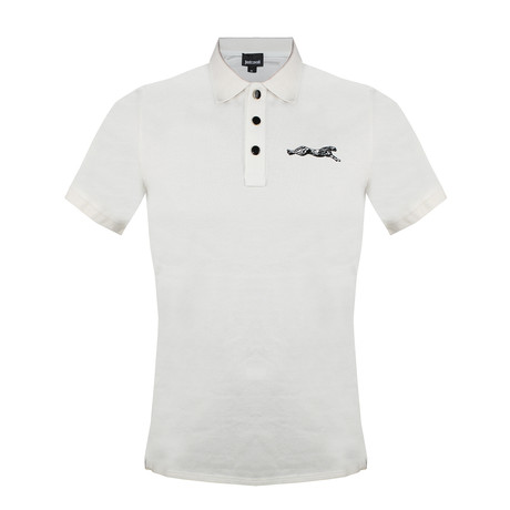 Men's Knitted Polo Shirt // White (S)