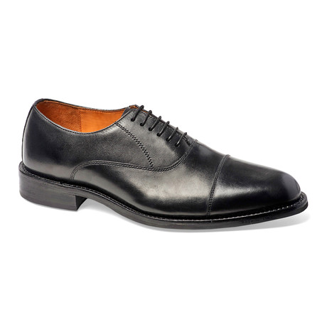 Woodstock Cap-Toe Oxford // Black(Rubber Sole) (US: 7)