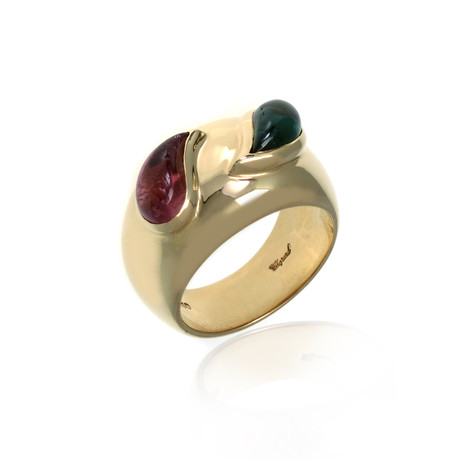 Chopard 18k Yellow Gold Tourmaline Ring // Ring Size: 7