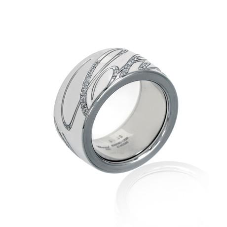 Chopard 18k White Gold Diamond Chopardissimo Ring // Ring Size: 6.25