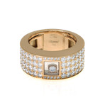 Chopard 18k Yellow Gold Diamond Ring // Ring Size: 6.25