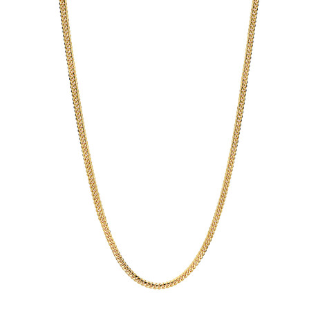 """Solid 18K Miami Cuban Chain Necklace // Yellow (18"""" // 11.9g)"""