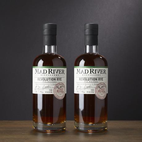 Mad River Distillery Rye Whiskey // Set of 2