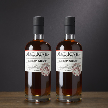 Mad River Distillery Bourbon Whiskey // Set of 2