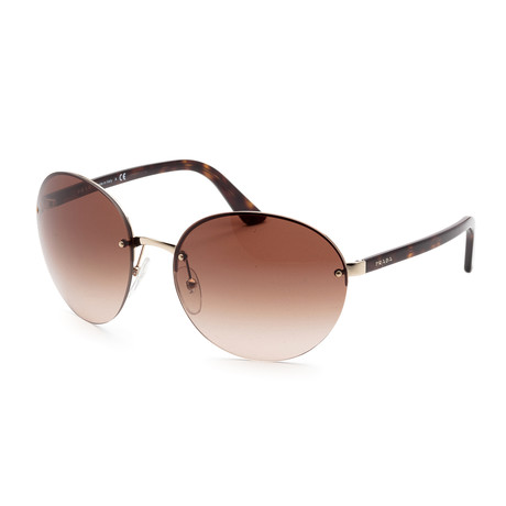 Men's PR68VS-ZVN6S161 Sunglasses // Pale Gold + Brown Gradient